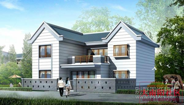 己在家建吧 新农村住宅超潮户型① 买房子 搞装修 大南阳吧